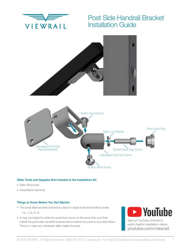 Post Side Handrail Bracket Installation Instructions-page-001