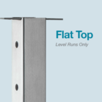 Flat Top cable railing post