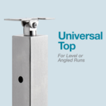 Universal Top cable railing post
