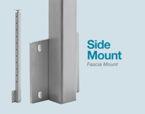 side mount cable railing post