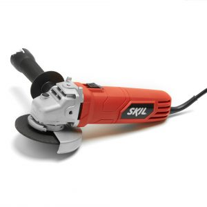 Red electric SKIL angle grinder