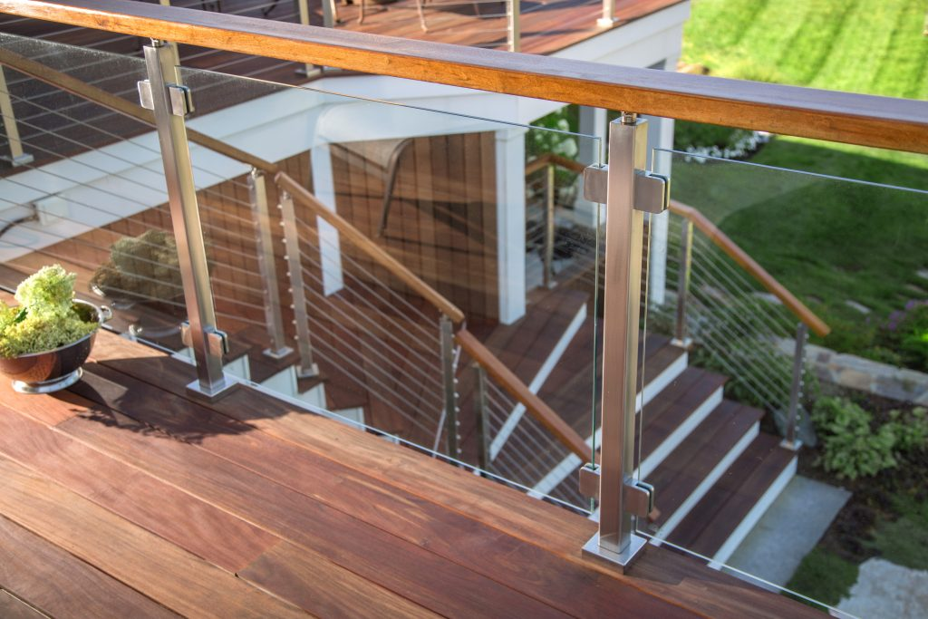 tempered framed glass railing