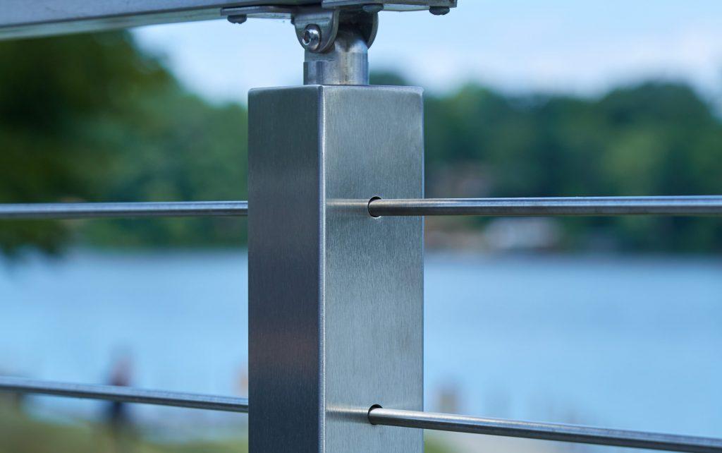 metal railing post