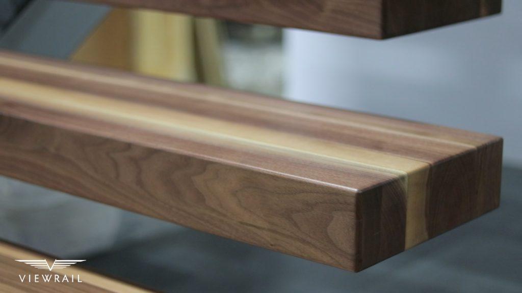 walnut stair tread detail