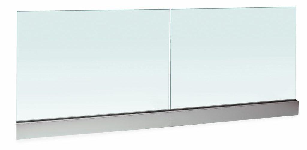 Glass railing baserail system