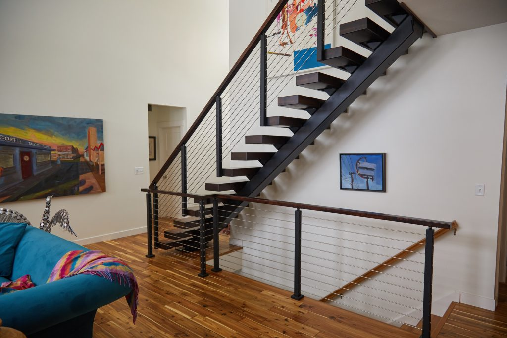 prefabricated staircase in modern home