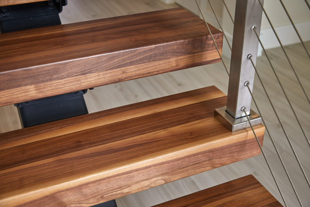 butcherblock stair tread