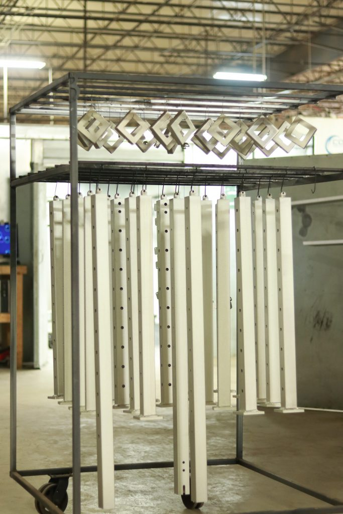 Powder coated metal posts