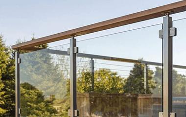 glass railing on deck