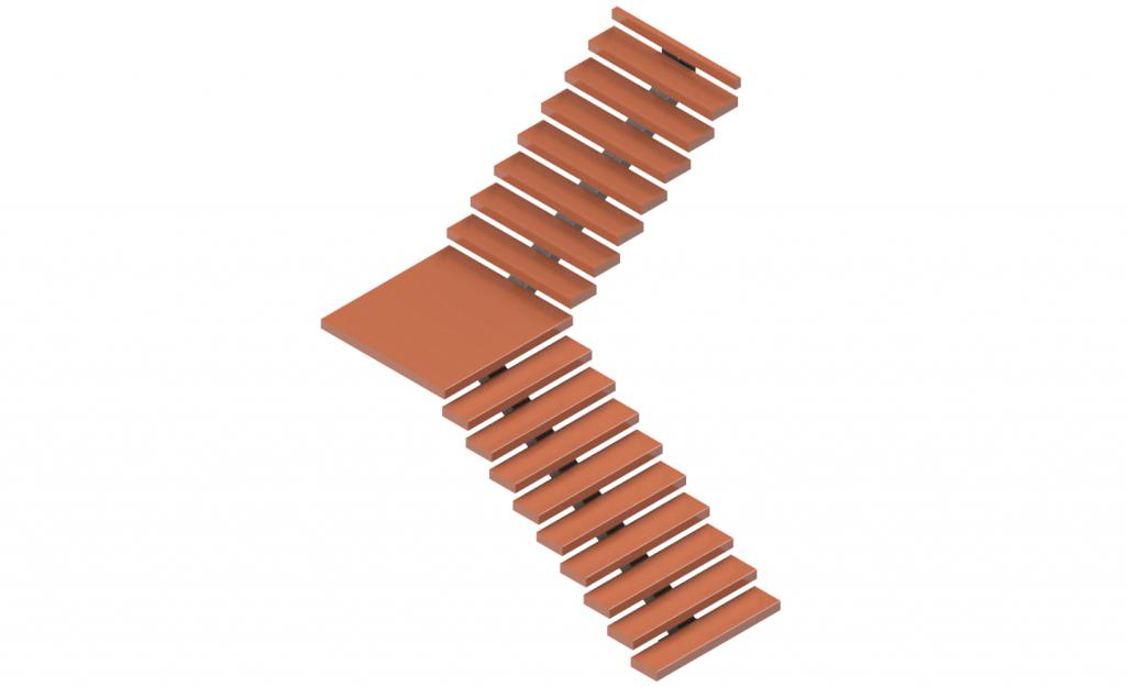 90 degree staircase