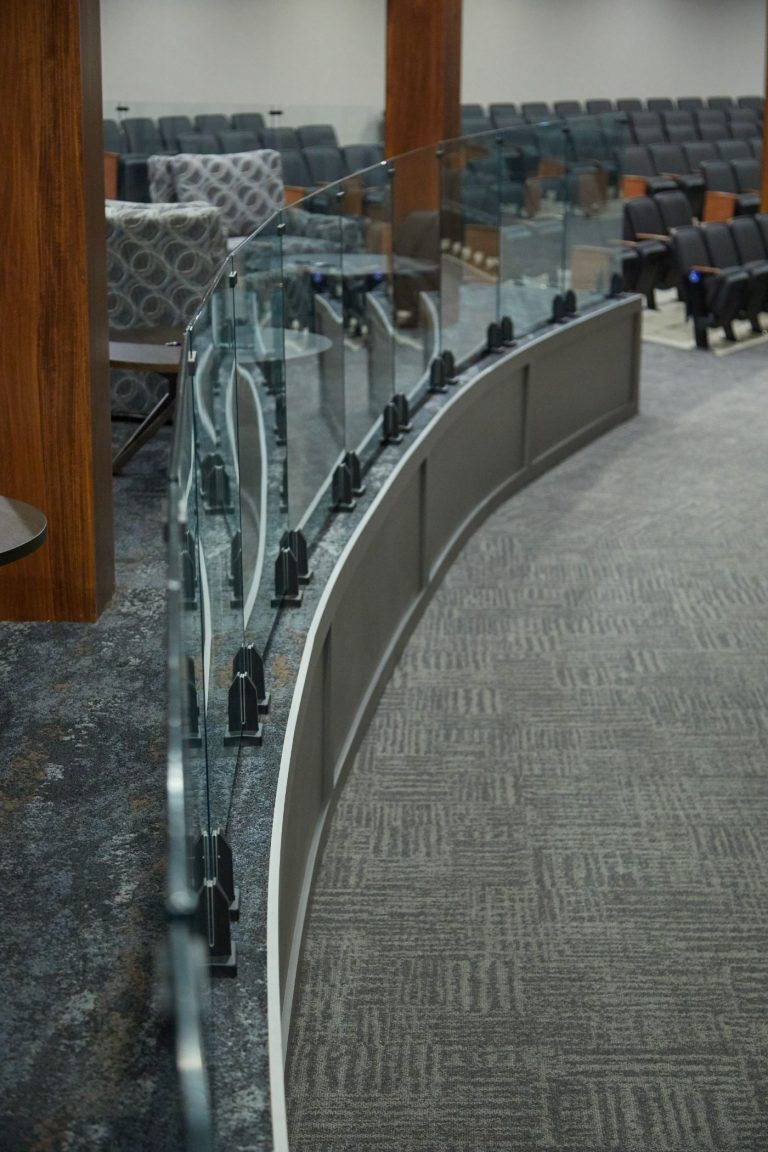Glass Railing with Spigots for Church