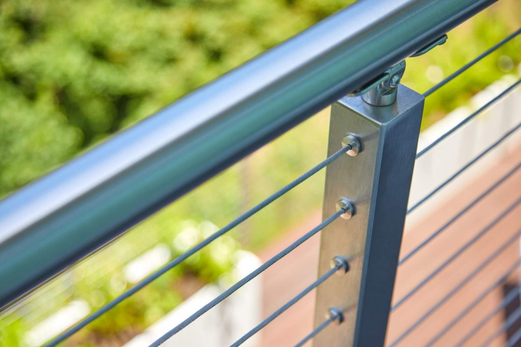 Metal Handrail for Cable Rail