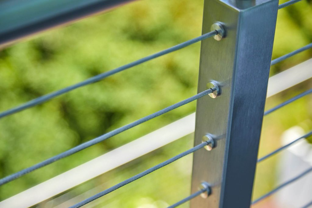 Cable Railing Secured into Post