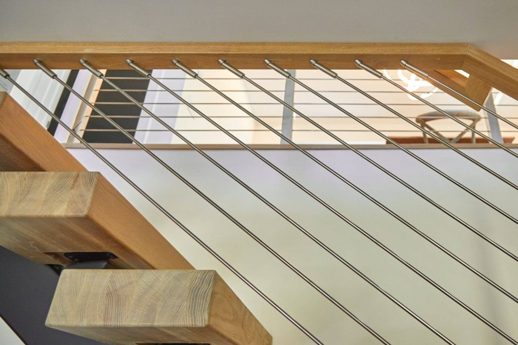Rod Railing with Stair Treads