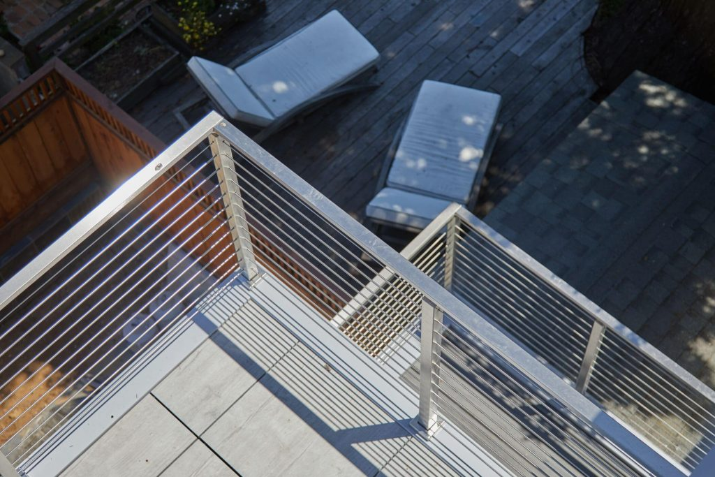Metal Handrail for Rod Railing