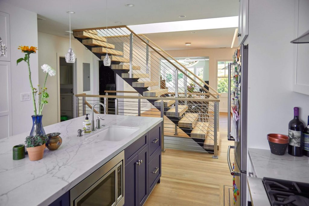 Floating Stairs for Kitchen