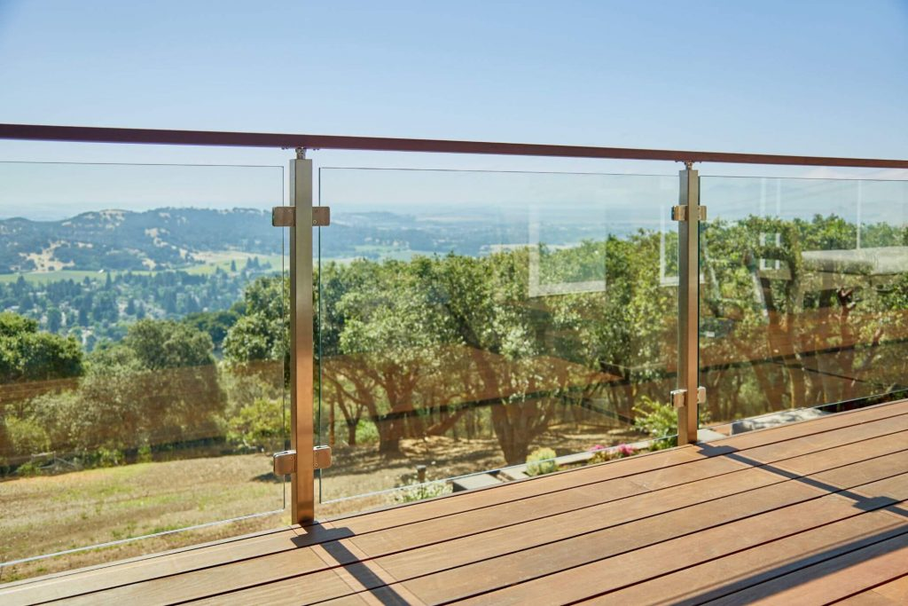Glass Railing Panels with Clips