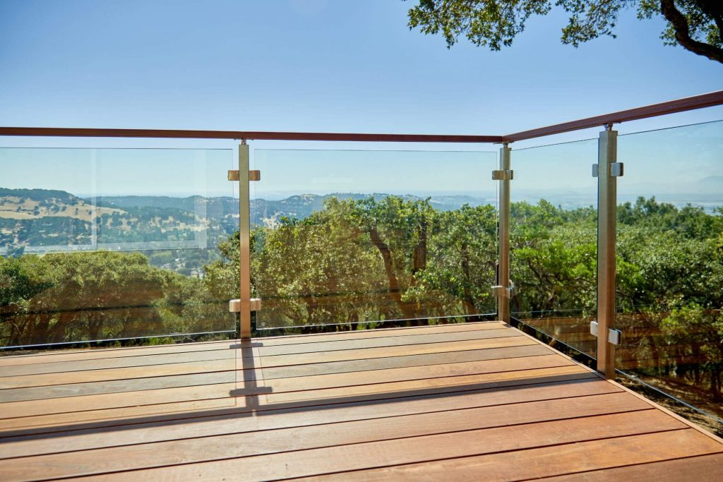 Glass Railing with Landscape View