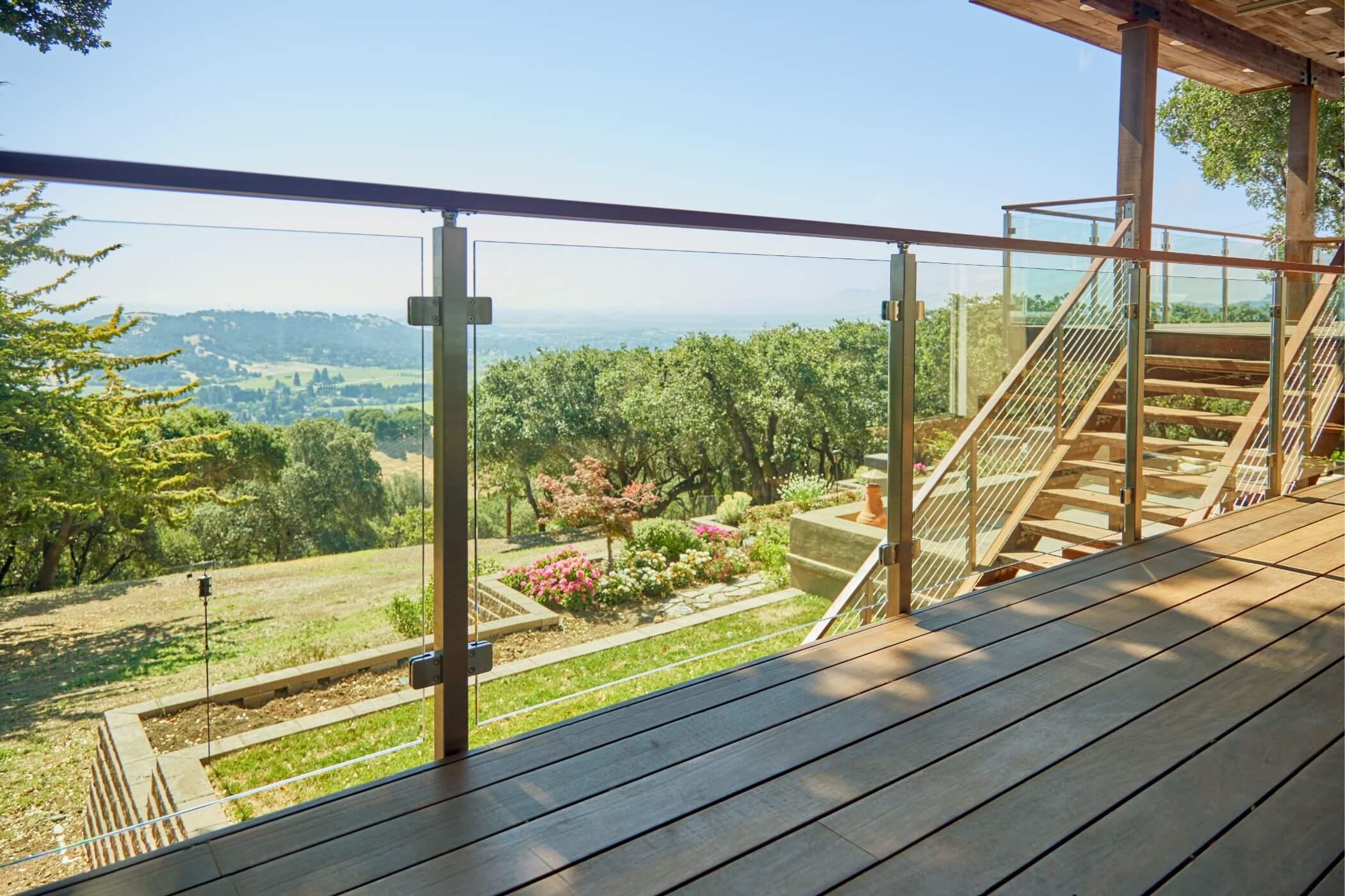 Glass Railing Deck Panels
