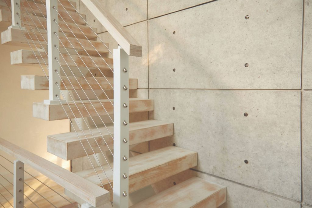 Floating Stairs with Surface Mount Posts