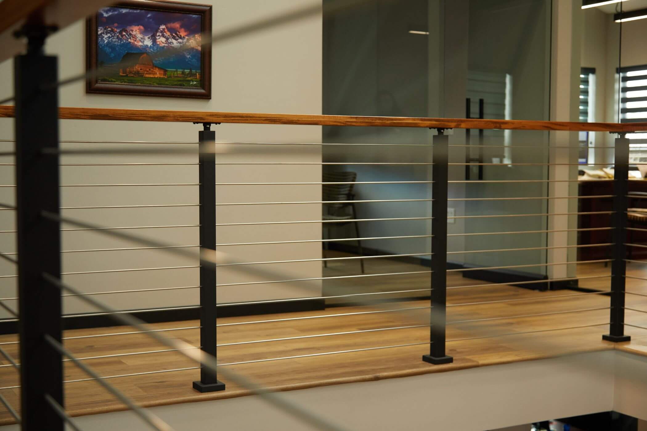Surface Mount Posts and Rod Railing