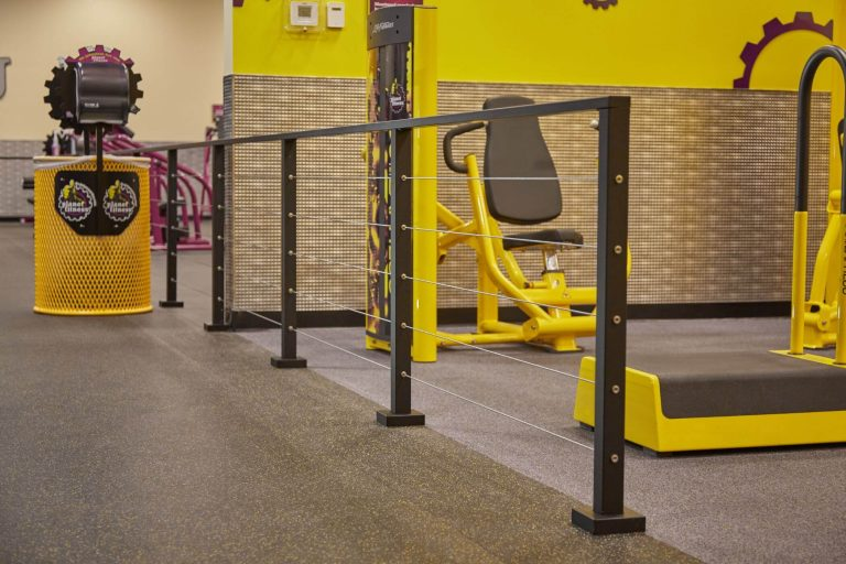 Cable Railing for Planet Fitness