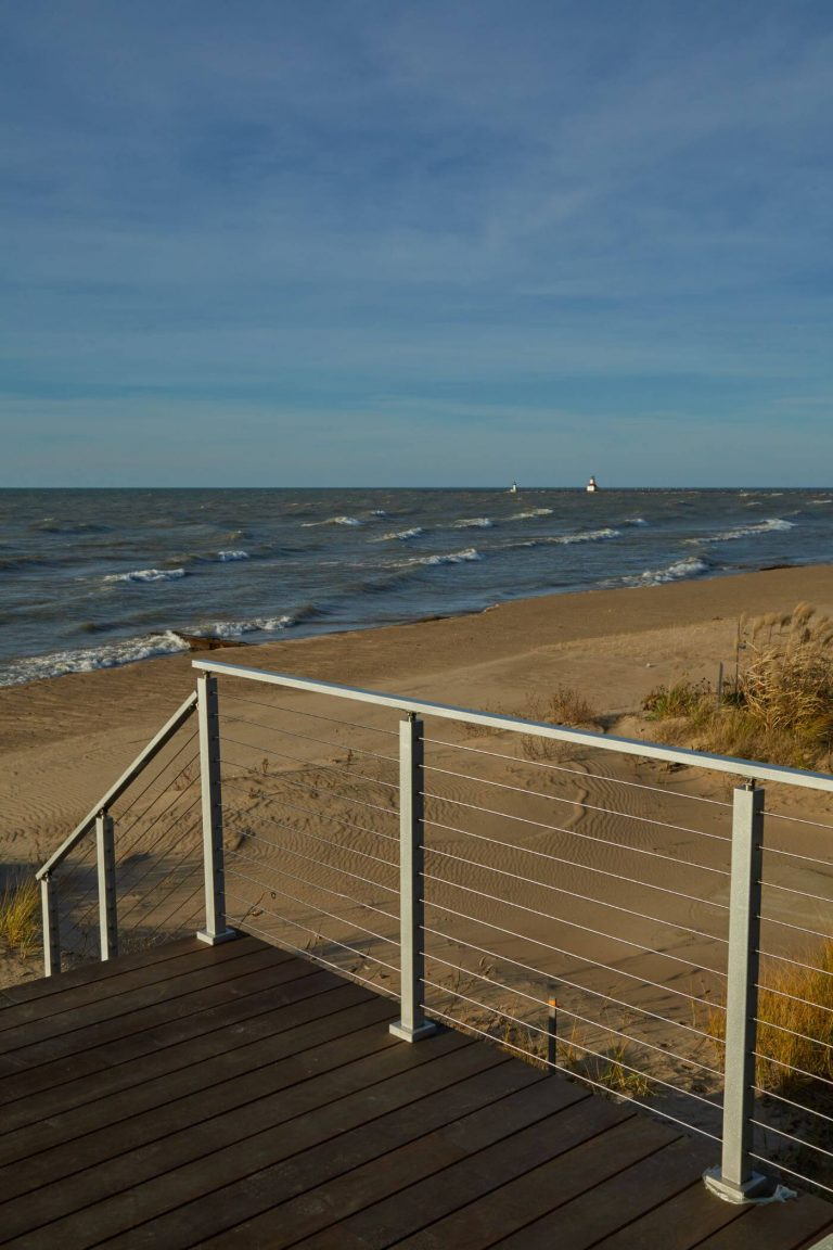 Cable Railing on a Beach Deck