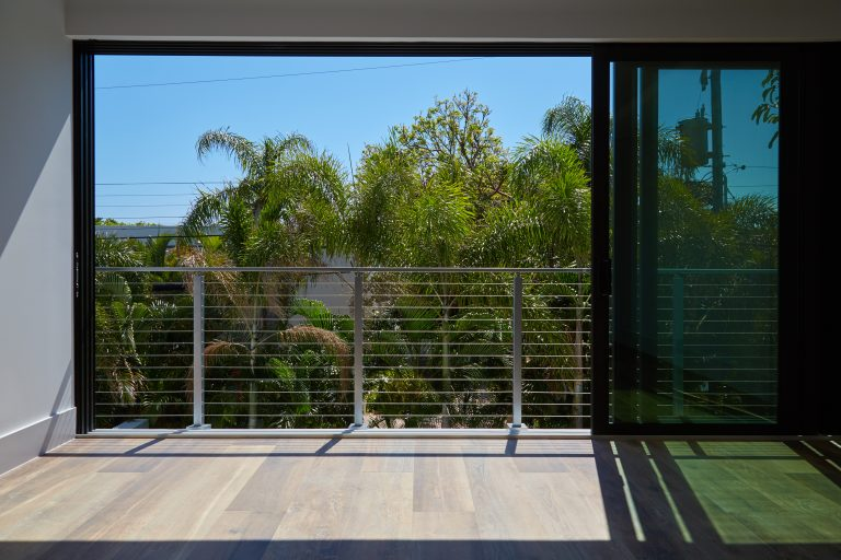 Cable Railing Balcony with Sliding Glass Doors