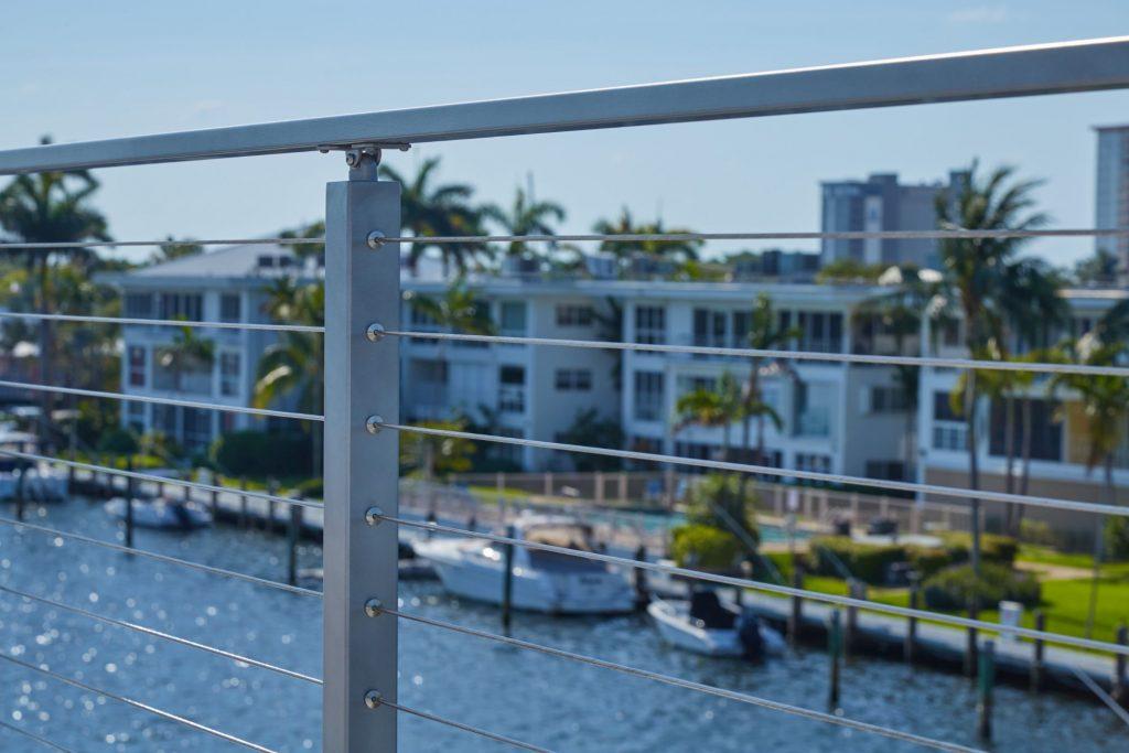 Close Up Cable Posts Florida