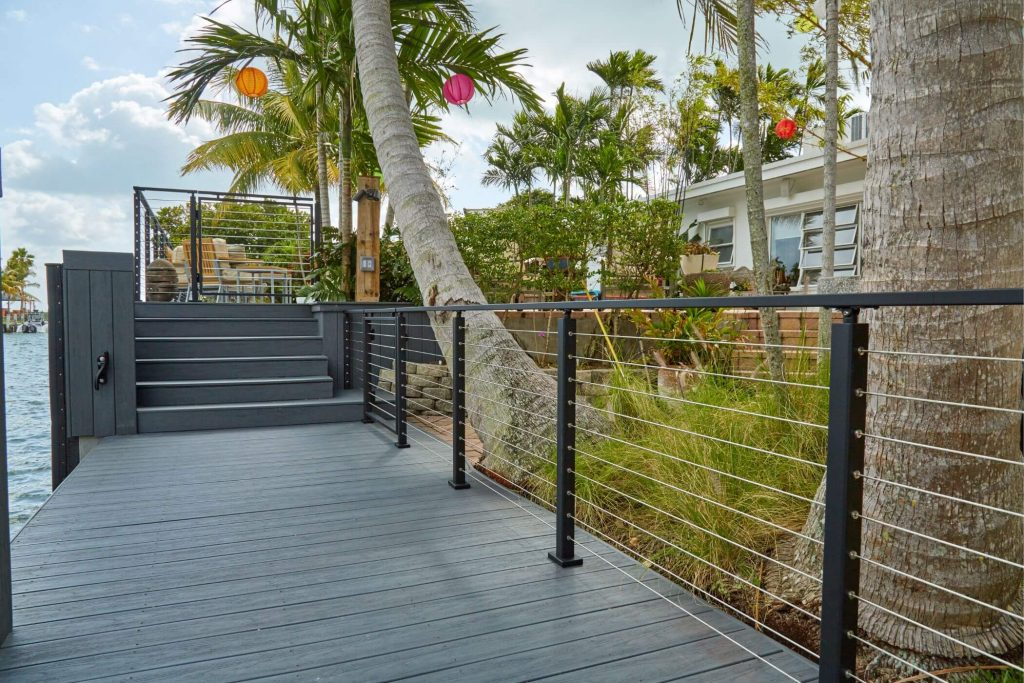 Cable Railing System with Palms