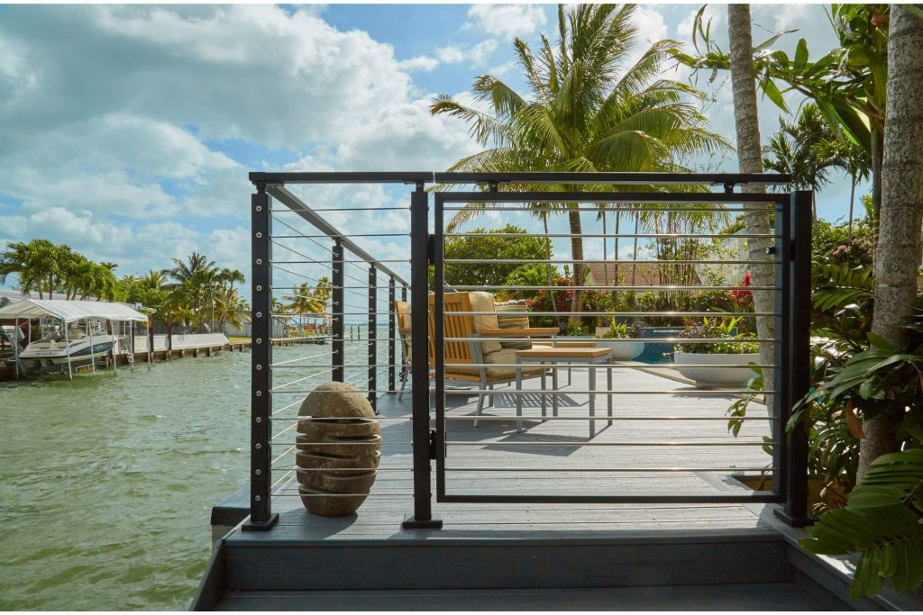 Florida Cable Railing with Palm Trees