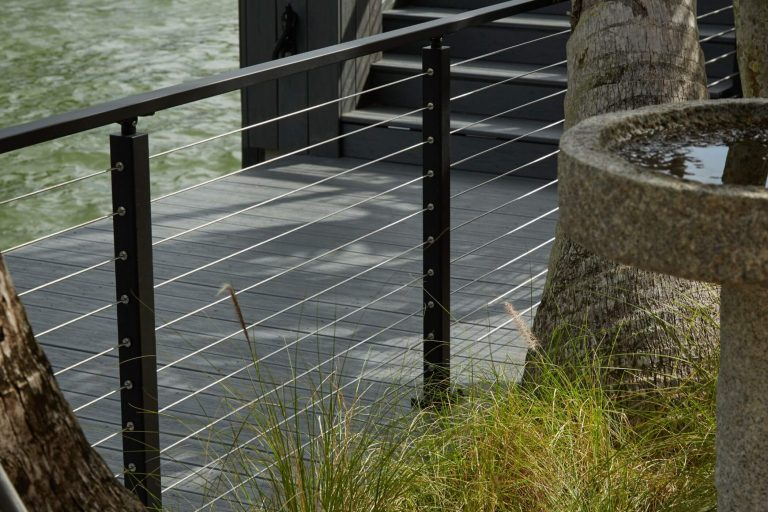 Cable Railing with Black Posts