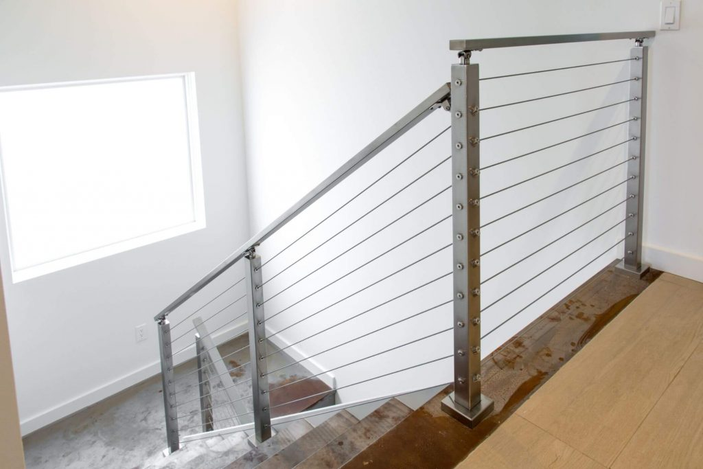 Cable Railing Surface Mount System for Stairs