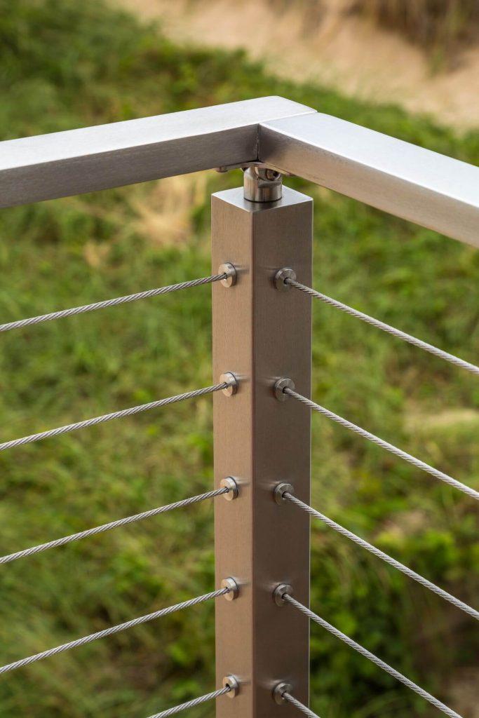 Corner Cable Railing Post