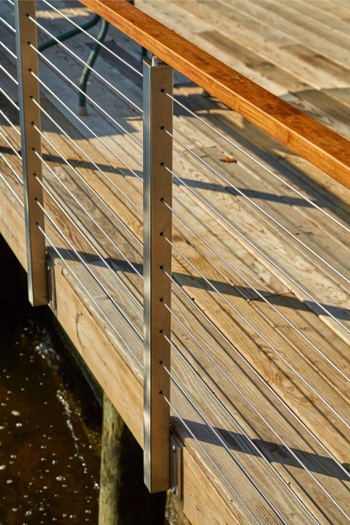 Side Mount Posts on Dock