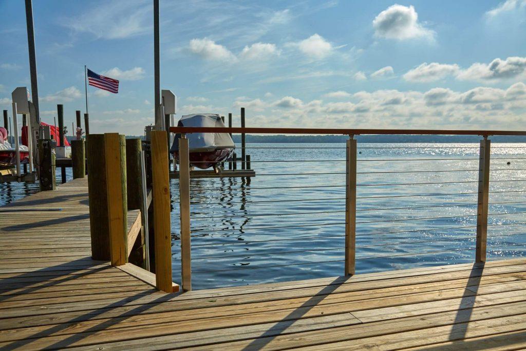 Rod Railing System for Dock