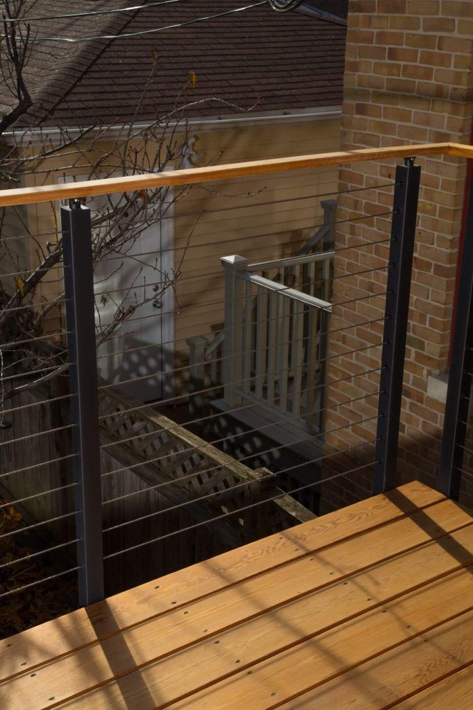 Cable Railing Post System for Decks