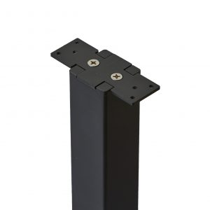 Level Line post top with attached handrail bracket