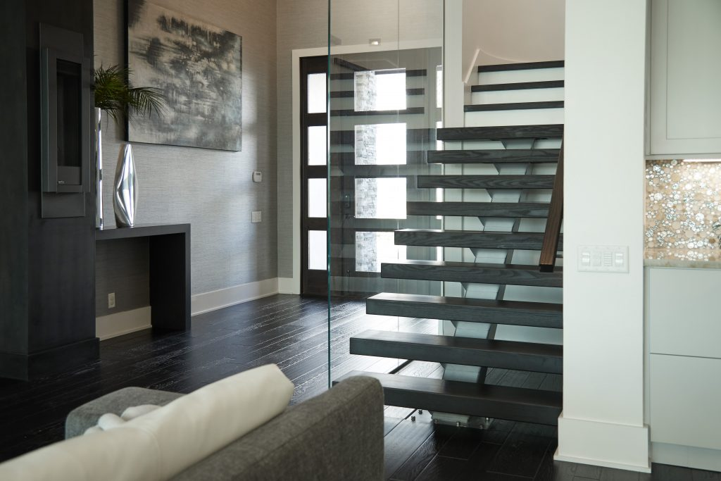Glass Railing Floating Stair