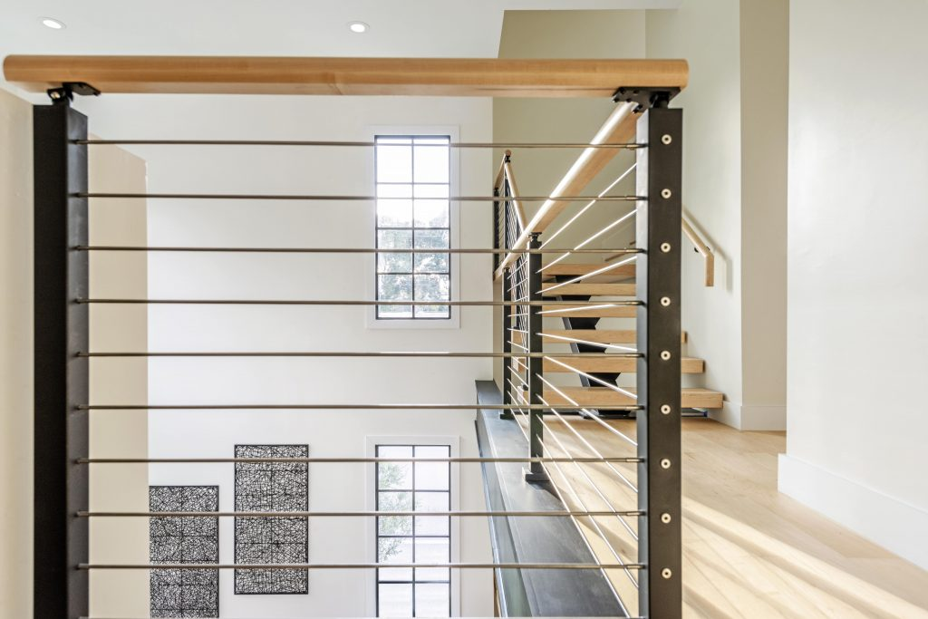 Floating Stairs Rod Railing